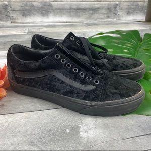 Vans old skool velvet black shoes sneakers